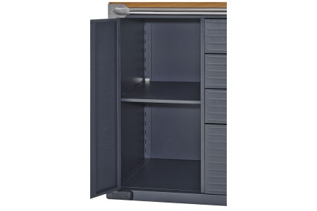 Rolling Storage Cabinet with Drawers-20205J